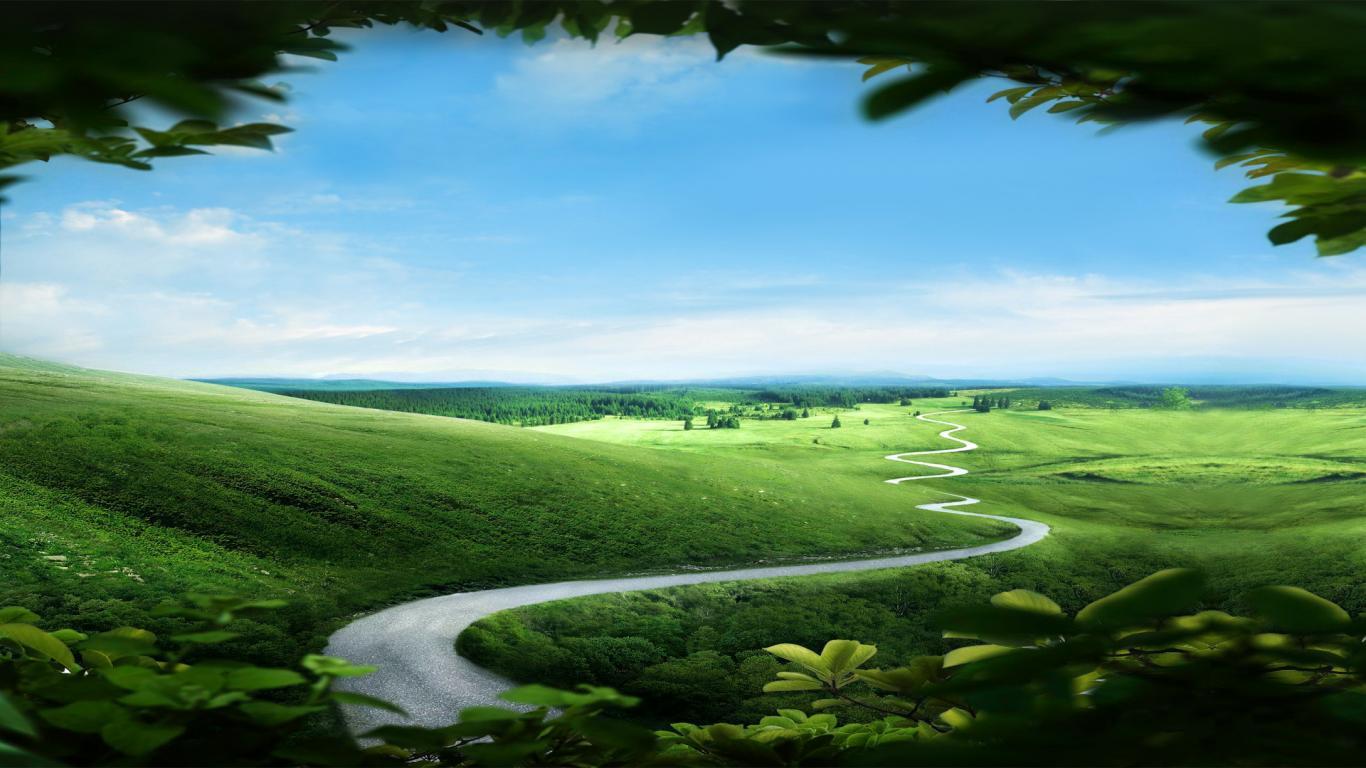 Beautiful Path Landscape Nature Landscapes Wallpaper