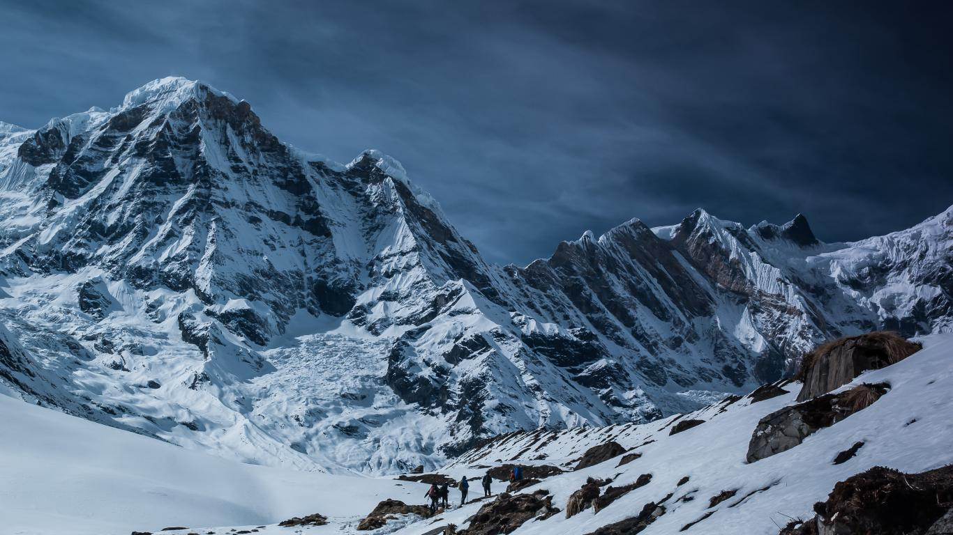 Cold Snow Winter Nature Mountain Wallpaper