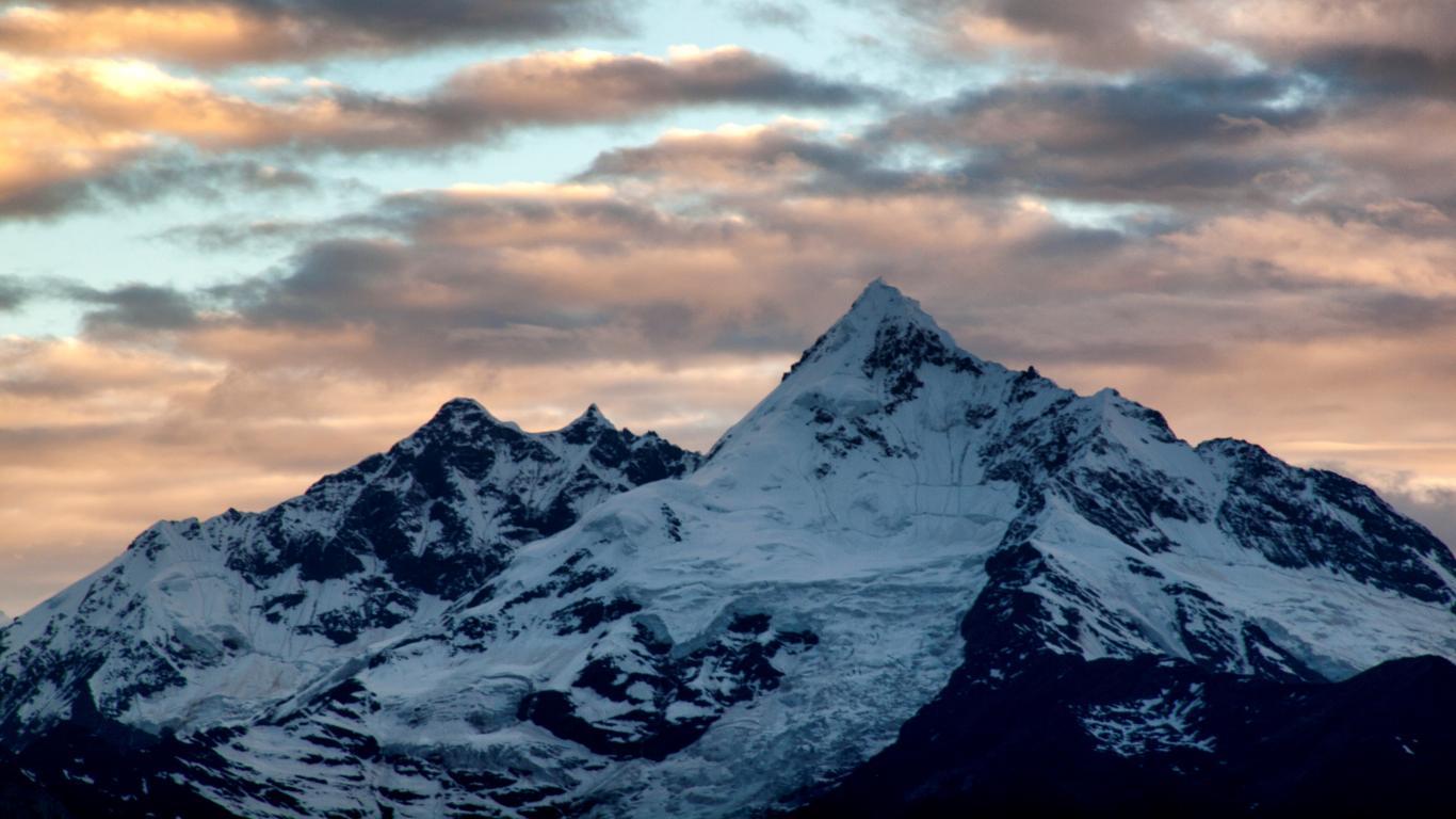 Dusk, Meili Snow Nature Mountain Wallpaper