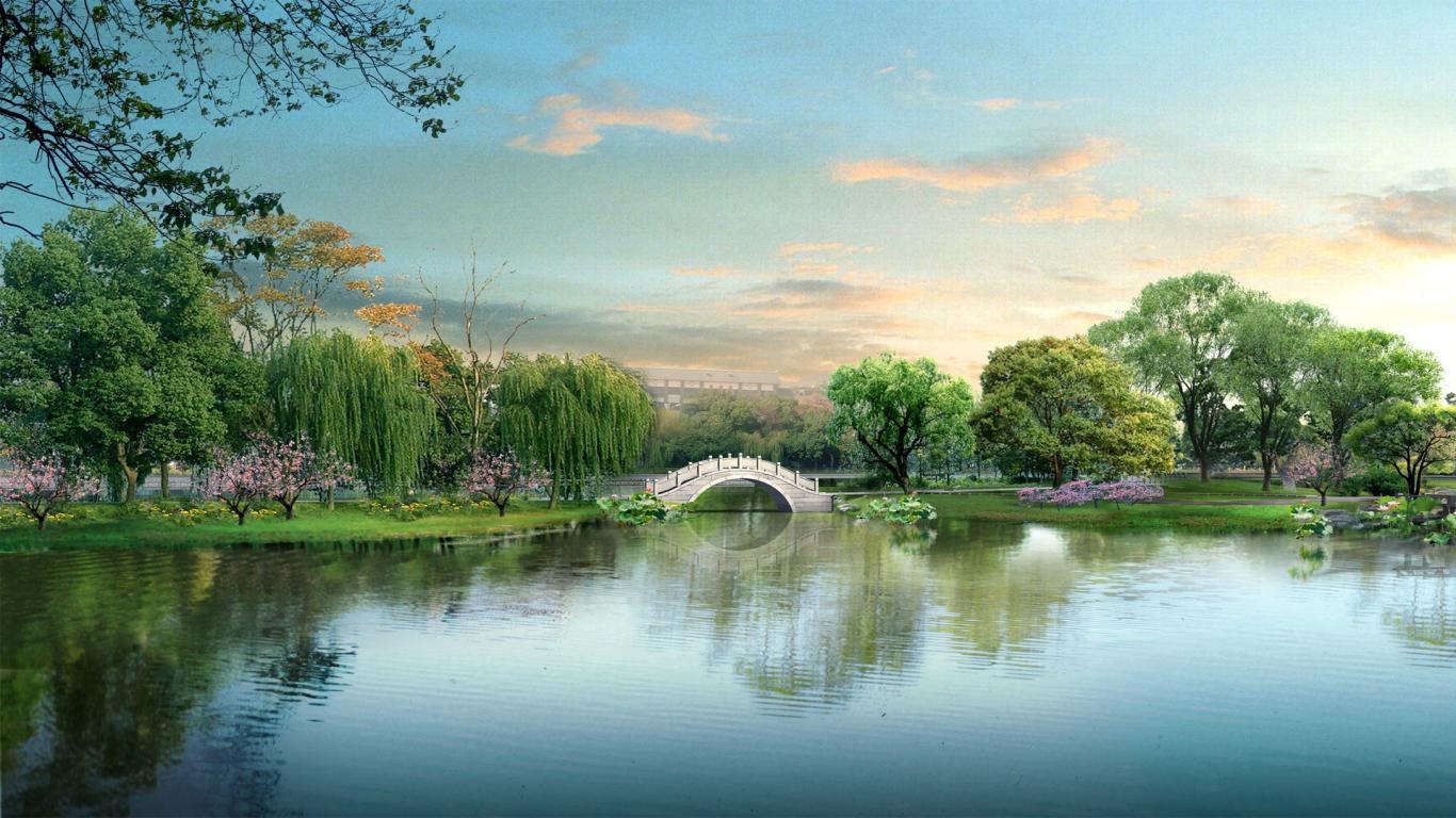 Gorgeous Japan Digital Landscape Nature Landscapes Wallpaper