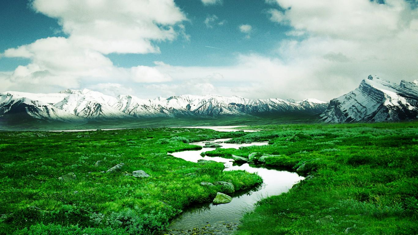 Norway River and  Nature Mountain Wallpaper