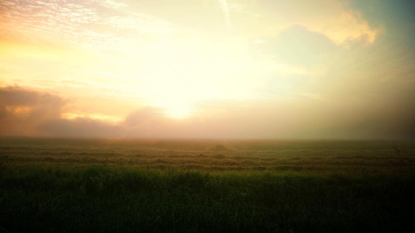 Sunrise Farm Landscape Nature Landscapes Wallpaper