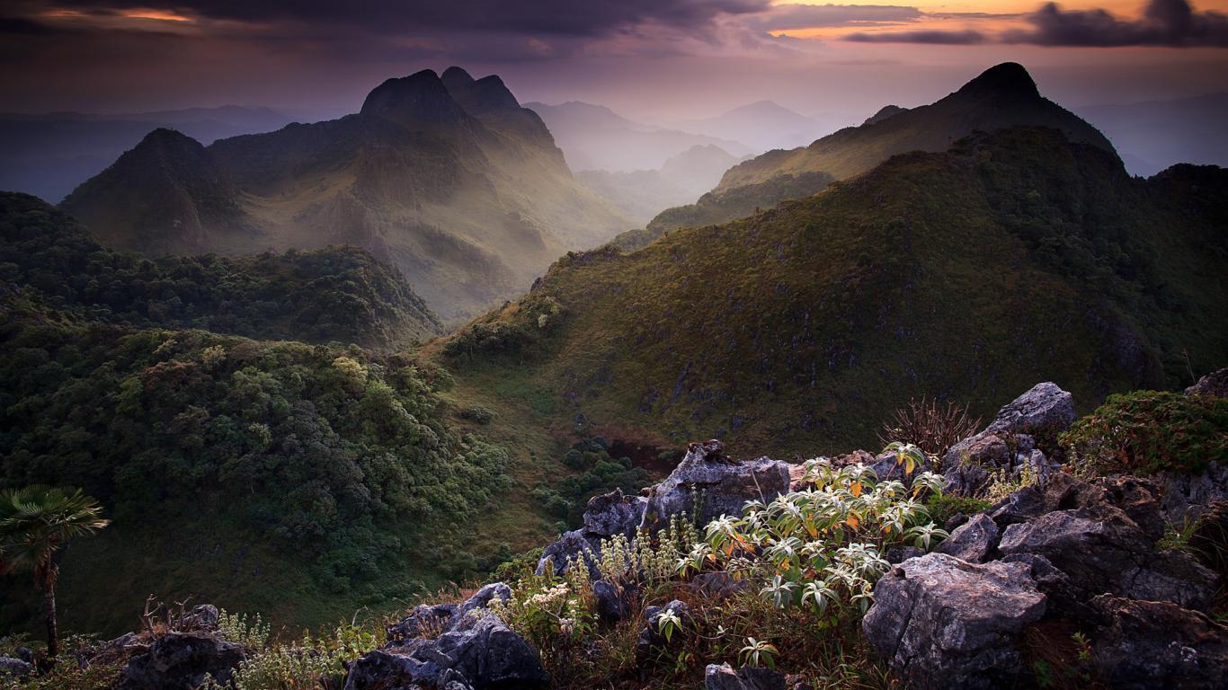 Thailand, Lovely Limestone  Nature Mountain Wallpaper