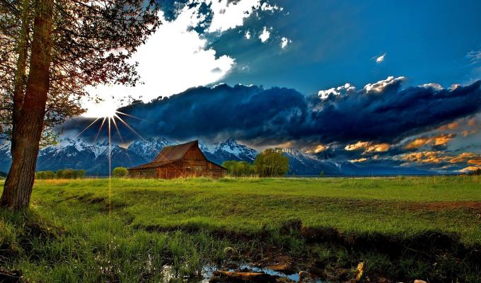 A Beautiful Landscape, Blue Mountain Image