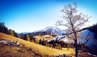 Awesome Scenery of Mountain Image