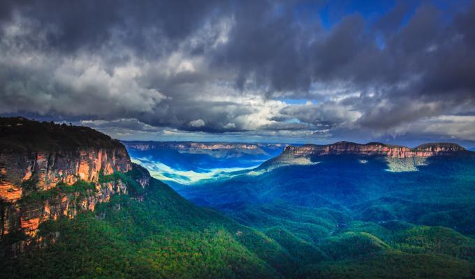 Australia, Clouds Over Blue Mountain Image