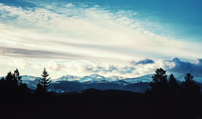 Beautiful Far View of Snow Mountain Image