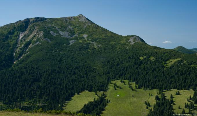 Beautiful Green Mountain Image