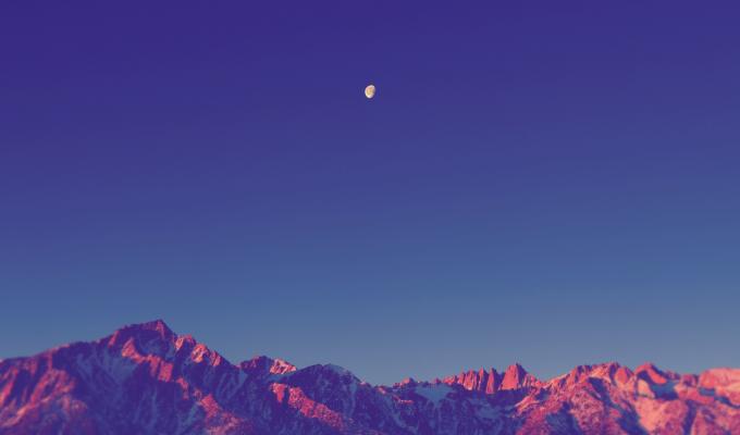 Beautiful Night, Dark Mountain Image