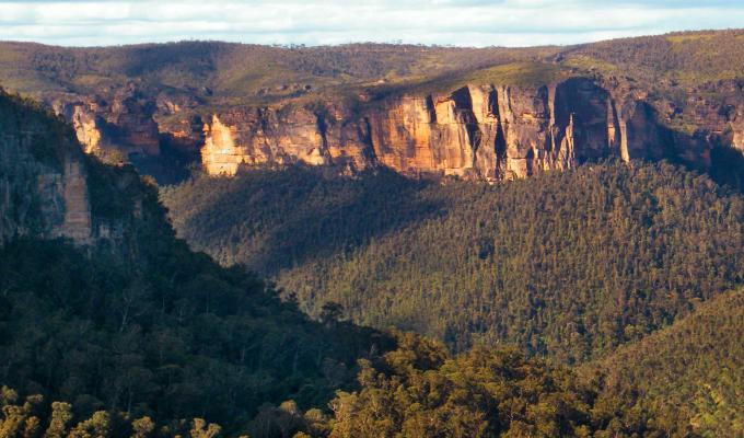 Beautiful Rocky Cliffs & Mountain Image