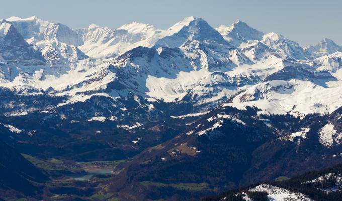 Beautiful Sunny View, Alps  Mountain Image