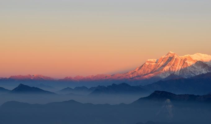 Beautiful Top View of Mountain Image