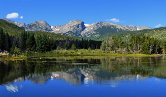 Beautiful View of Rocky Mountain Image
