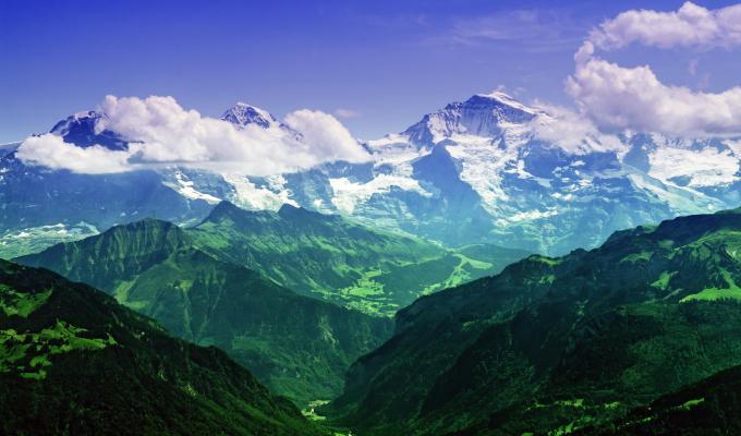 Bernese Swiss Alps Mountain Image