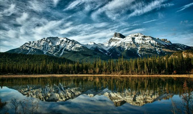 Canada, Alberta Mountain Image