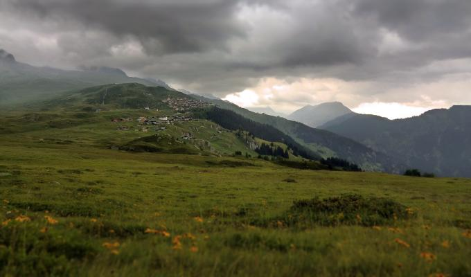 Cloudy Weather, Alps Mountain Image