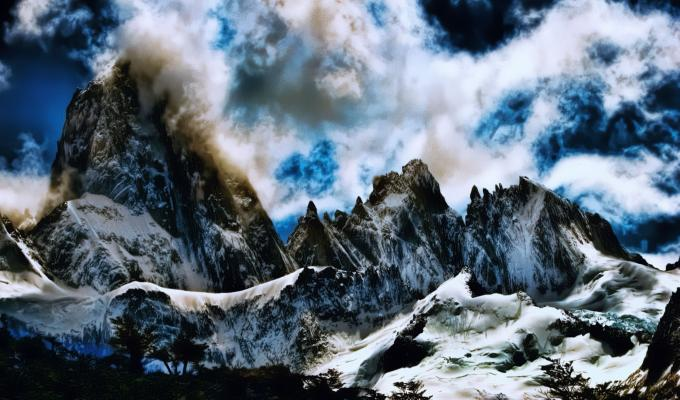 Cloudy Weather Over Fitz Roy Mountain Image