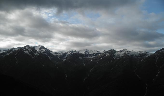 Dark Himalayan Mountain Wallpaper