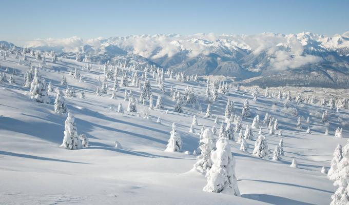 Alluring Landscape & Snow Mountain Image