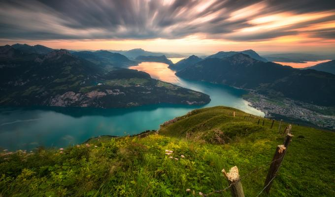 Landscape, Swiss Alps Mountain Image