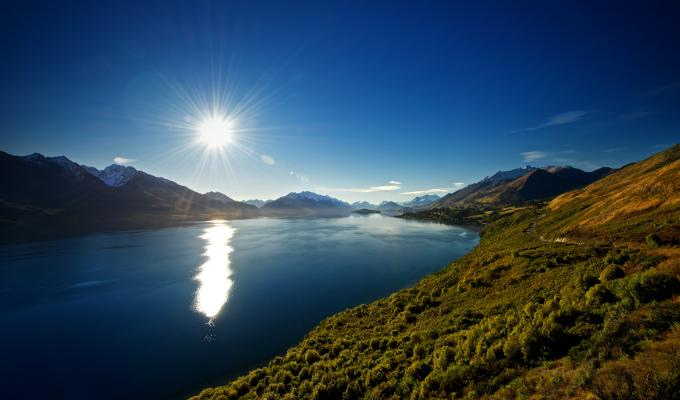 Lovely Lake Wakatipu Landscape Image