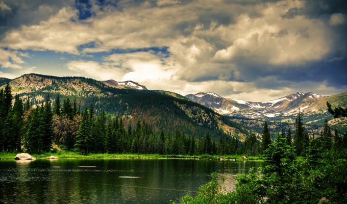 Lovely Landscape, Dark Mountain Image