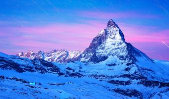 Snow Covered Matterhorn Mountain Image