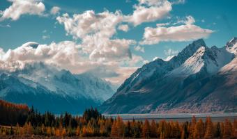 Snow Capped Mountain Image