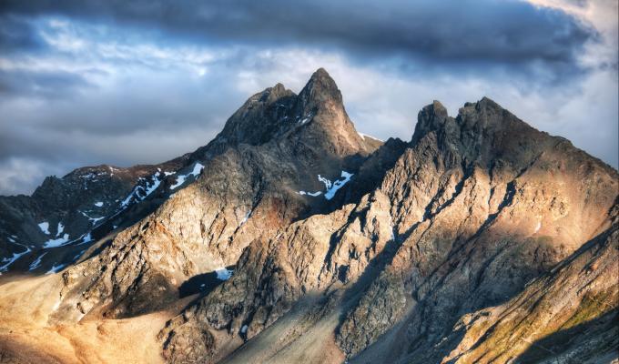 Rainy Weather, Sunlight, Alps Mountain Image