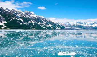 Alaska Snow Mountain Image