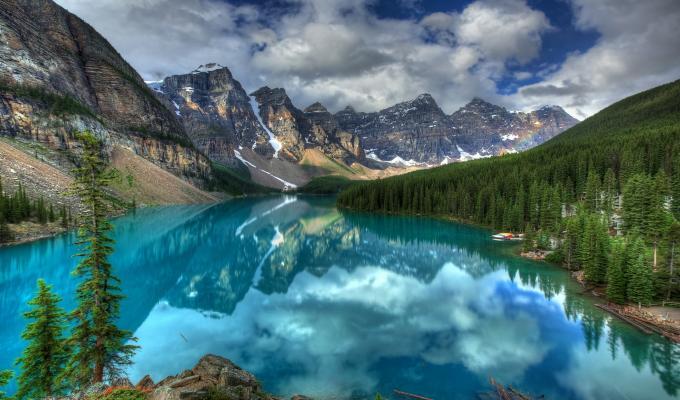 Stunning View, River &  Mountain Image