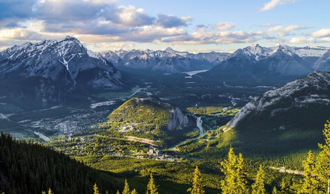 Beautiful Sulphur Mountain Image