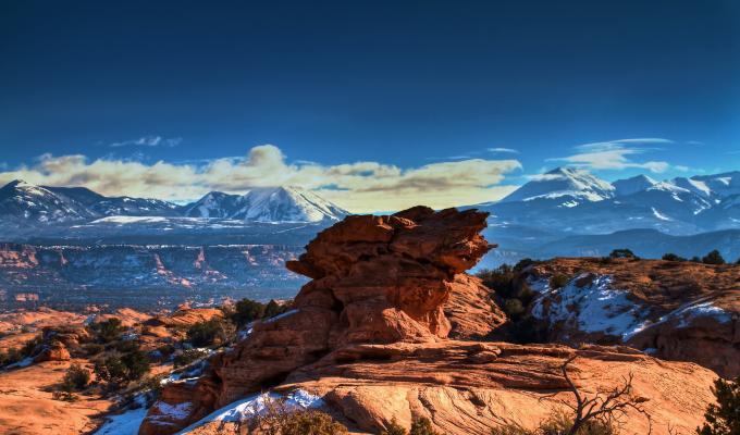The Moab Utah Mountain Image