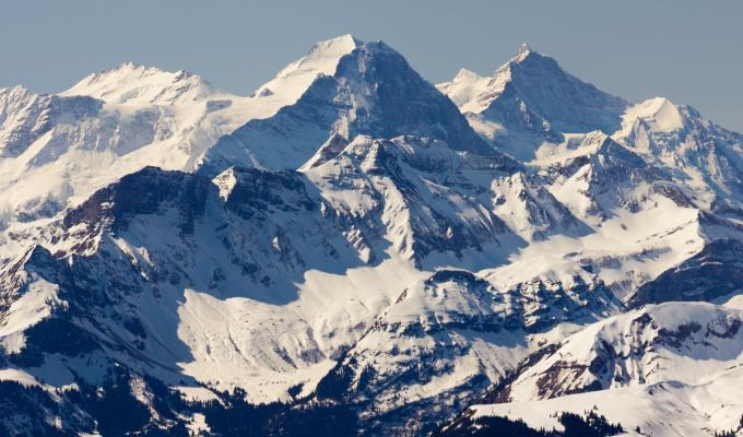 Winter, Sunshine On White Mountain Image